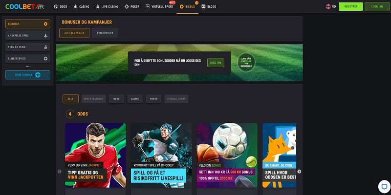 Coolbet bonuser for sport