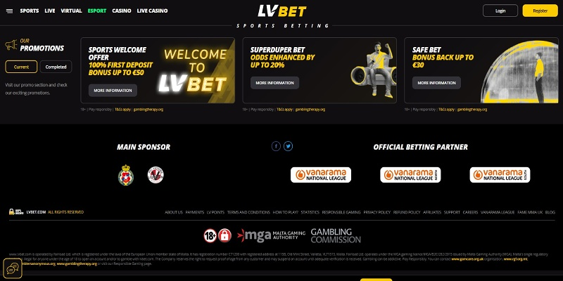 LV BET bonuser for sport