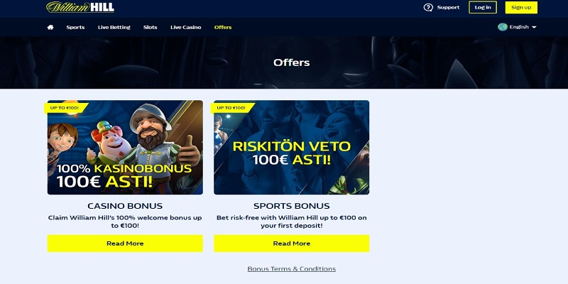 William Hill bonuser for sport